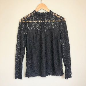 Just Fab lace long sleeved top
